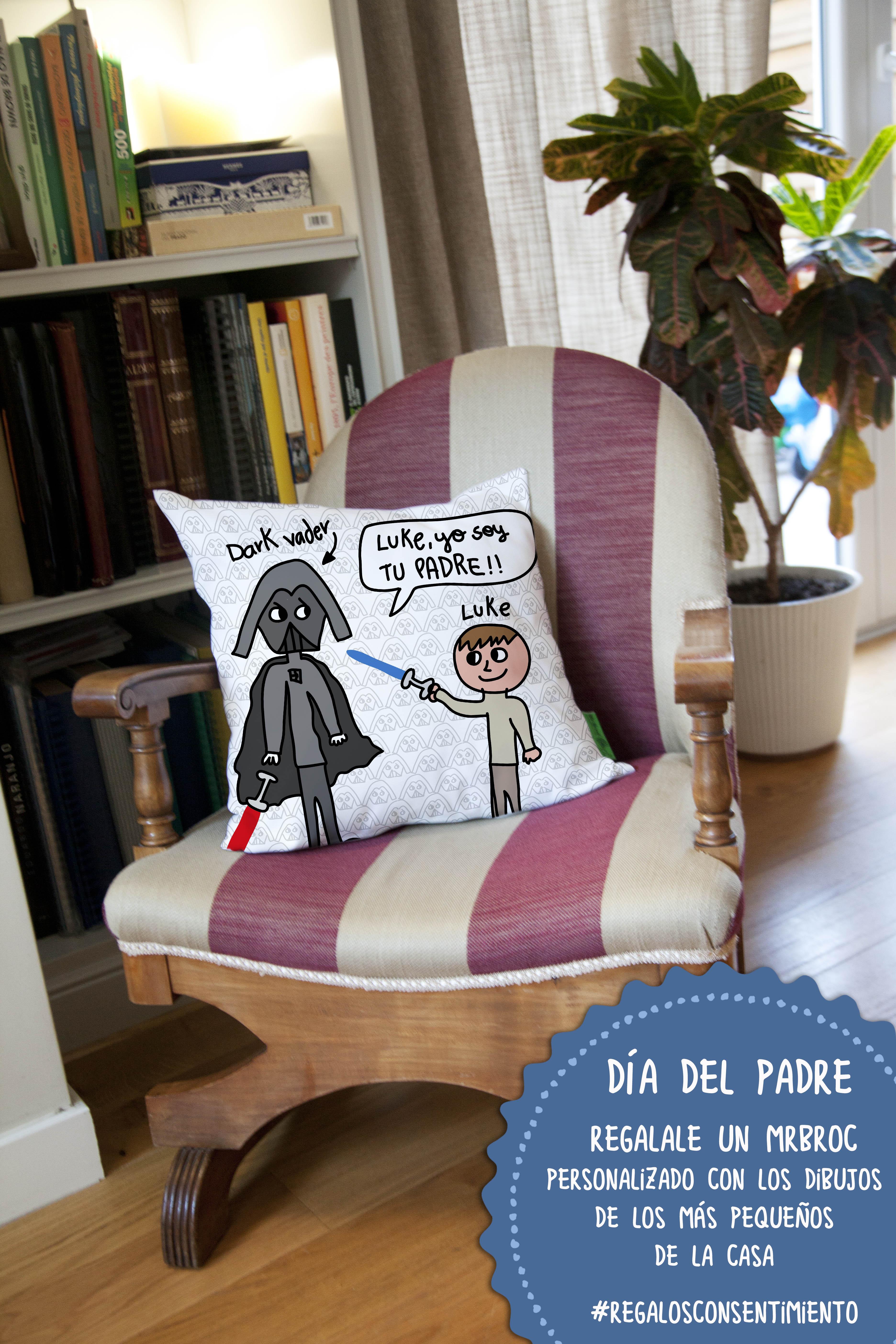 Broc cojin personalizado con dibujos para el Día del Padre | MrBroc