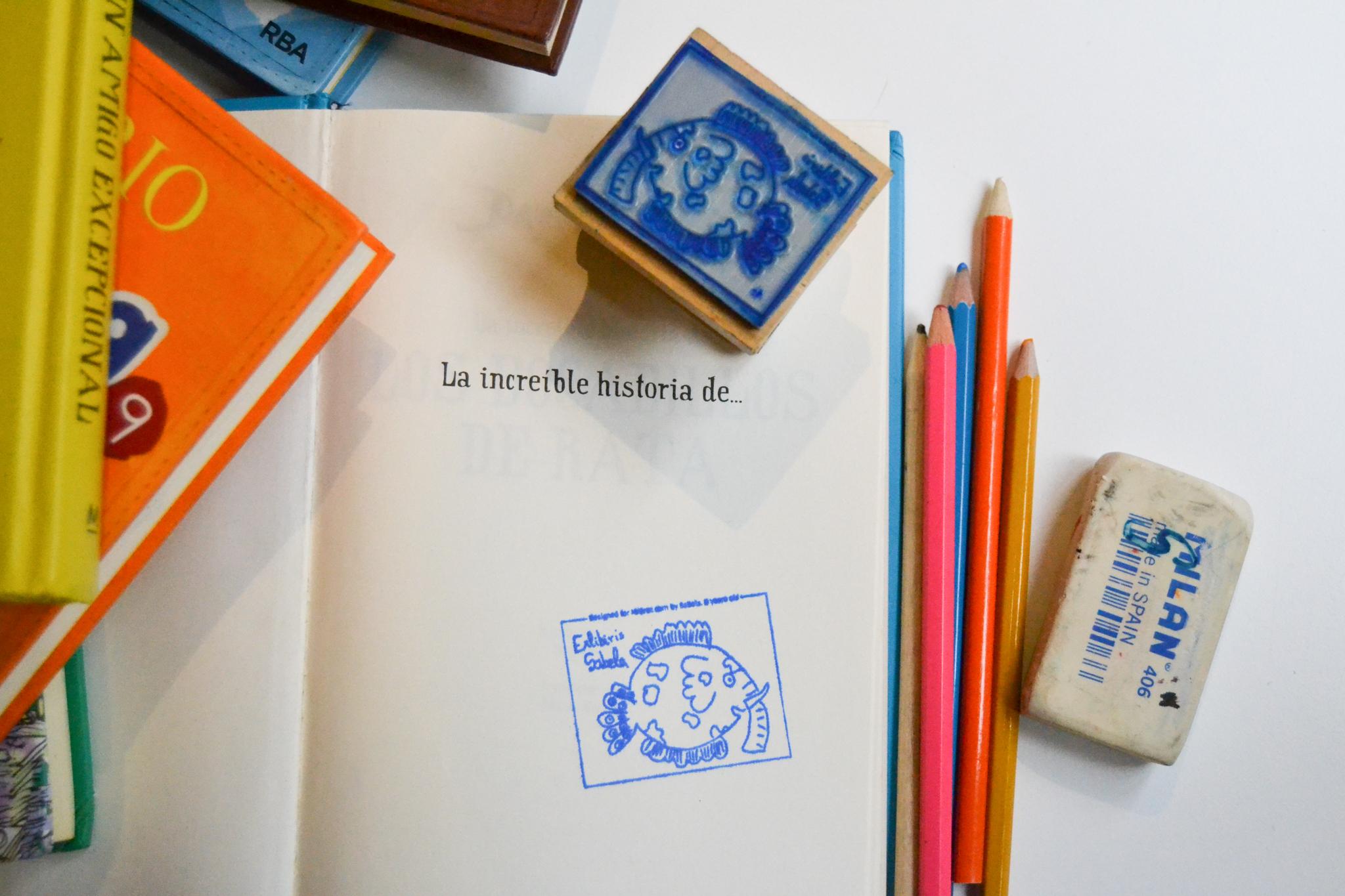 broc sellos personalizados. La mejor forma de marcar los libros de tus niños en la vuelta al cole.