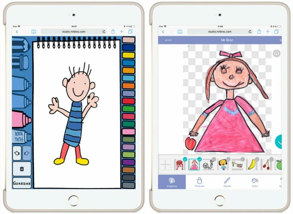 personaliza con tus dibujos en papel o con brocpaint, tus regalos con mas sentimiento