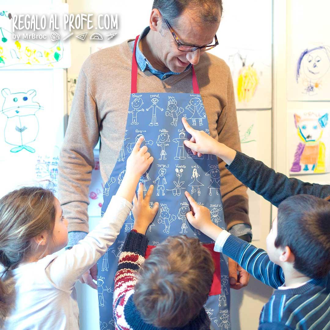 delantal personalizado regalos para profesores originales