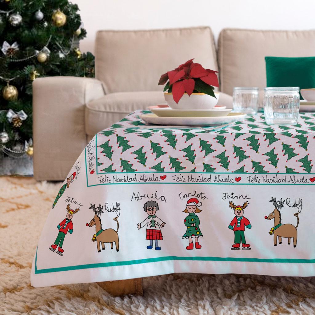 Mantel personalizado navidad Mrbroc