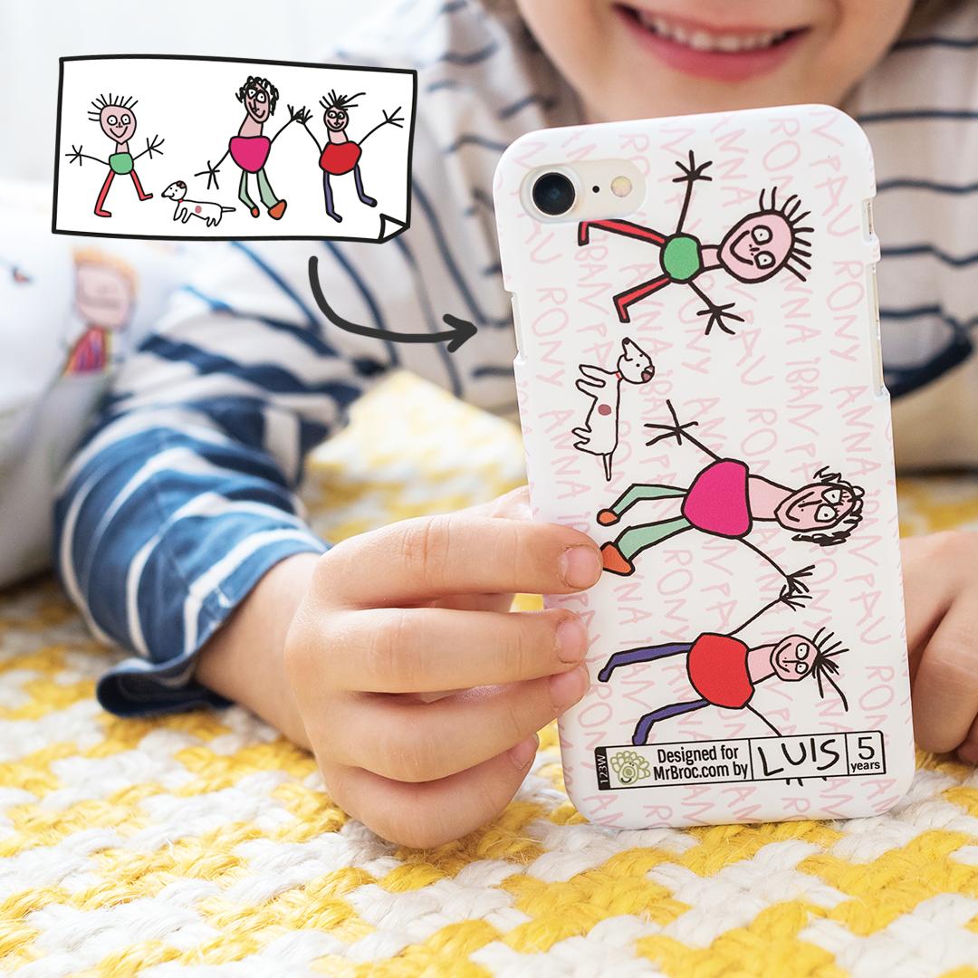 carcasa personalizada con dibujos de niños