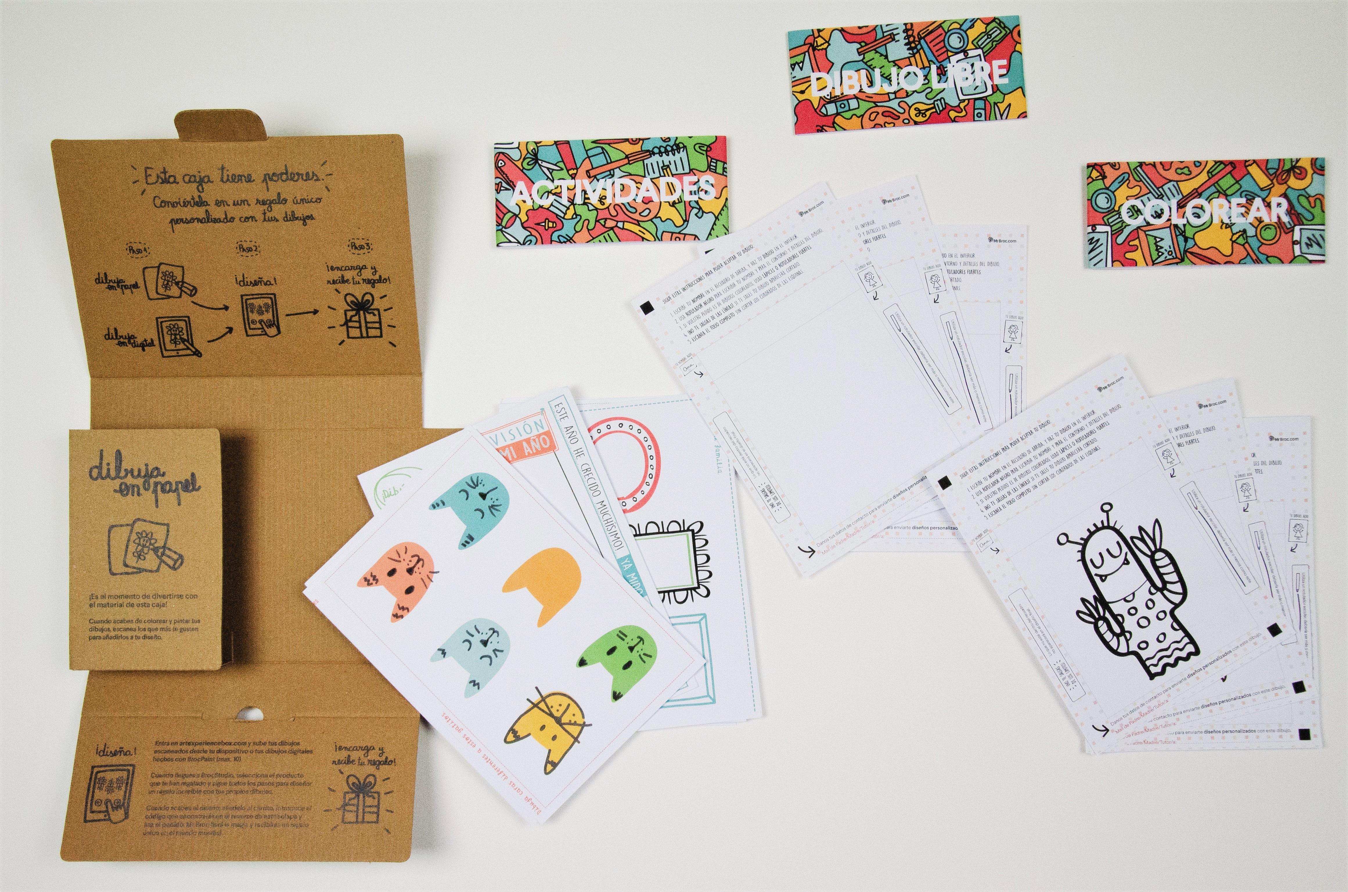 Unboxing the art experience box con todo su material creativo