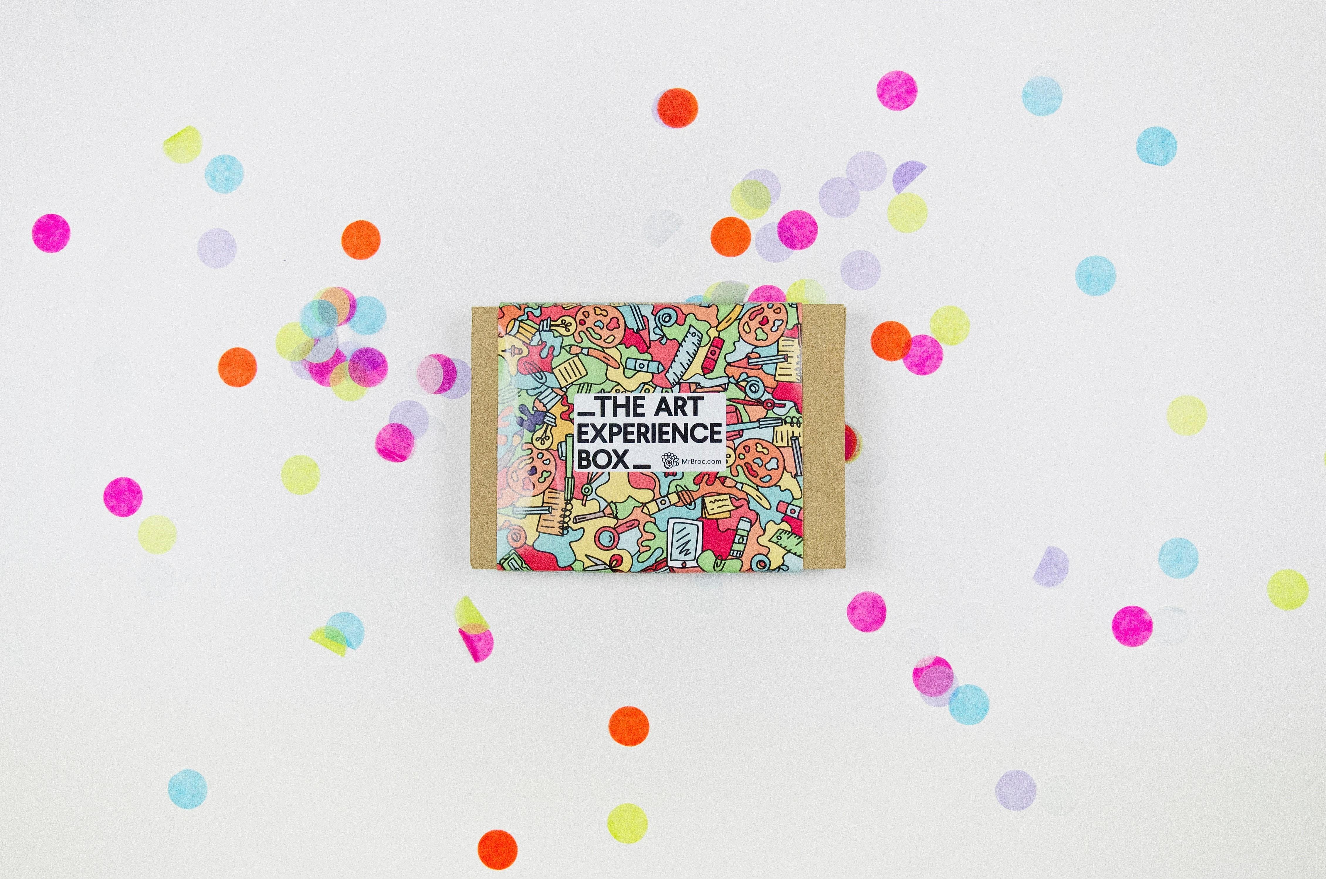 caja creativa de regalo the art experience box