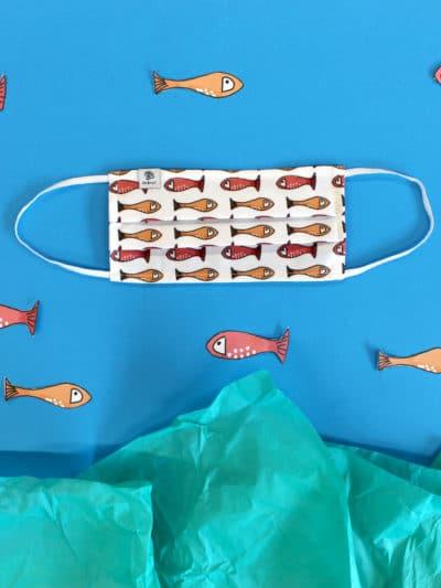 Mascarilla MrBroc estampado peces Tula