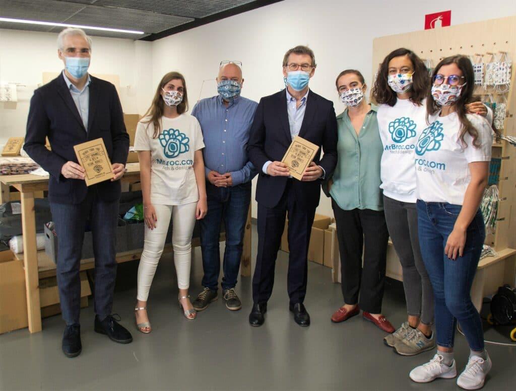 Donación telas MrBroc mascarillas Xunta de Galicia