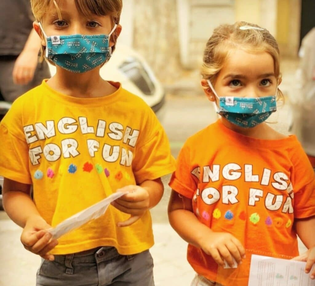 mascarillas personalizadas English For Fun